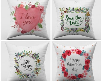 Watercolor Olive Wreath Pillow Cover