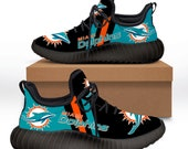 Miami Dolphins Yeezy Boost 350 V2 - Miami Dolphins Yeezy Shoes - Miami Dolphins rugby team - Christmas gift shoes