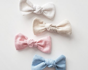 Hair curls / Pliers / Barette / Headband / Linen