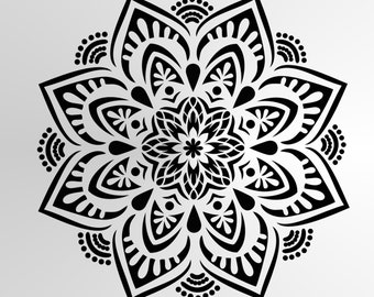 M31 Mandala Flora Round Reusable Stencil A3 A4 A5 Wall Art Decor Oriental