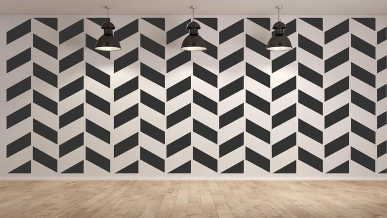 ZIG ZAG MODERN Reusable  Stencil Sizes A5 A4 A3 and Larger Romantic Art Wall Decor  Modern3