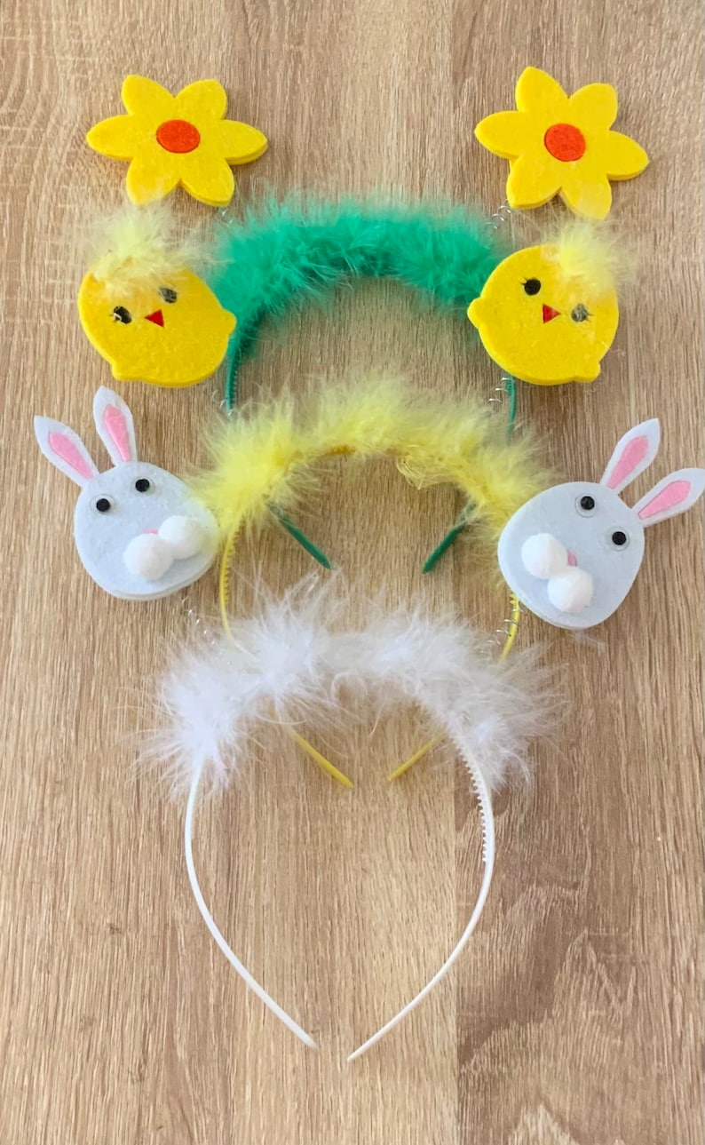 Easter Bunny Headband Easter Headband Chick Easter Headband Flower Easter Headband