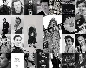 Harry Styles *BLACK /& WHITE* Collage Kit 70 PHOTOS