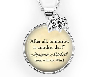 After All Tomorrow Is Another Day Cuff Bracelet Inspired By Gone With The Wind Scarlett OHara Quote Jewelry Famous Movie Inspirational Quote