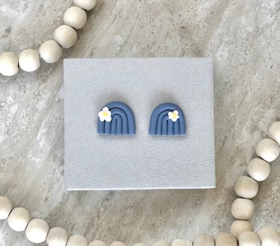 Stud Earrings Polymer Clay Studs Rainbow Earrings Rainbow Studs Polymer Clay Earrings