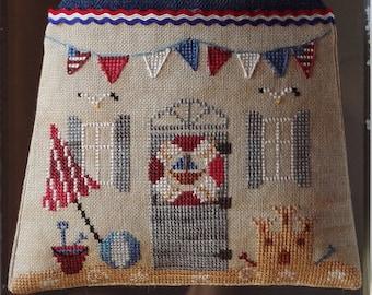 Summer Home cross stitch pattern by New York dreamer• summer, beach, sand, linen, beginners.