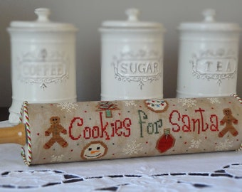 Cookies For Santa cross stitch pattern by new York Dreamer• Christmas, Santa, cookies, gingerbread.