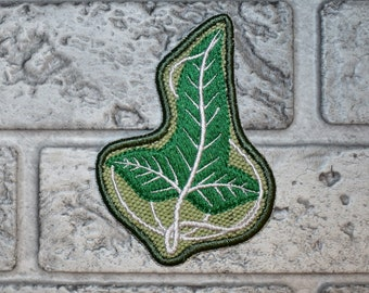 Embroidered Patch - Tolkien Lord of The Ring, Elven Leaf, lorien leaf - 2.76X3.9inch (70X99mm), Custom Patch, Iron-on, Sew On, Applique, DIY