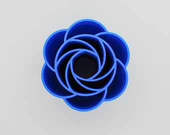 Flower pouring cup Pouring Cup Flower Pouring  Cup 3 inches wide Fluid Pouring, Tree Ring Ribbons five petals- Acrylic Pouring