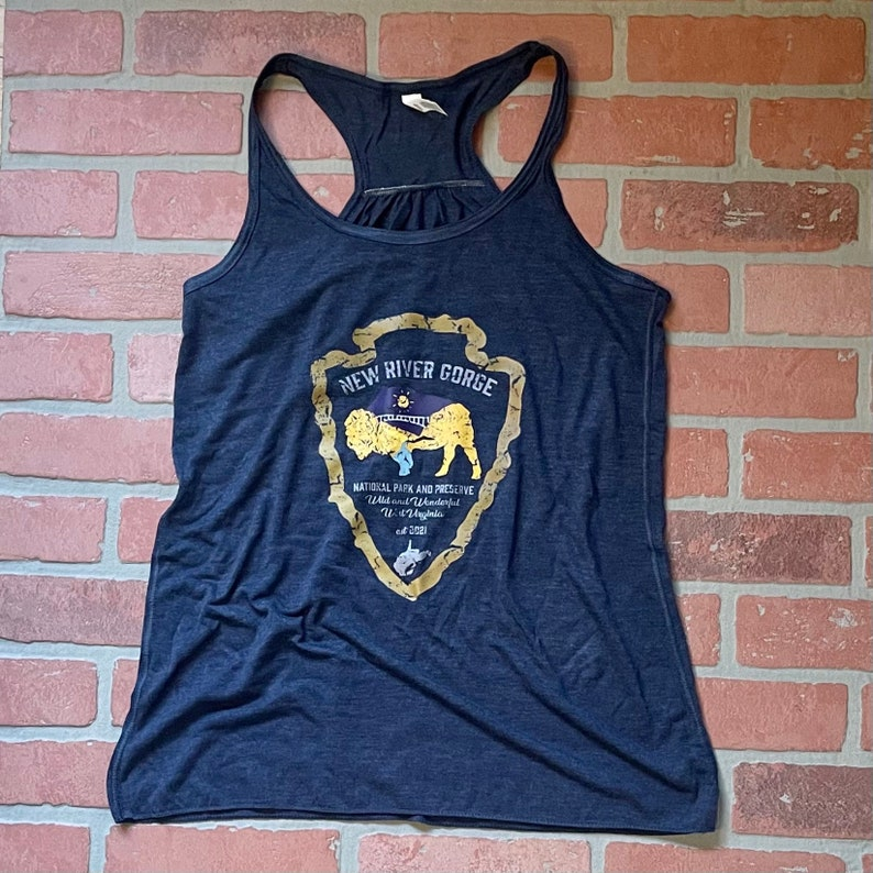 New River Gorge National Park and Preserve ladies triblend racerback tank