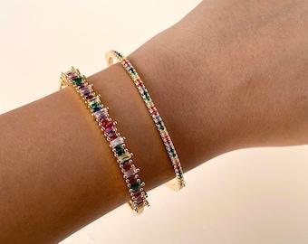 CZ Rosegold BanglesIndian Bangles Delicate BanglesDiamond BanglesCubic Zirconia BraceletsIndian wedding jewelry Cz Kada Bnagle