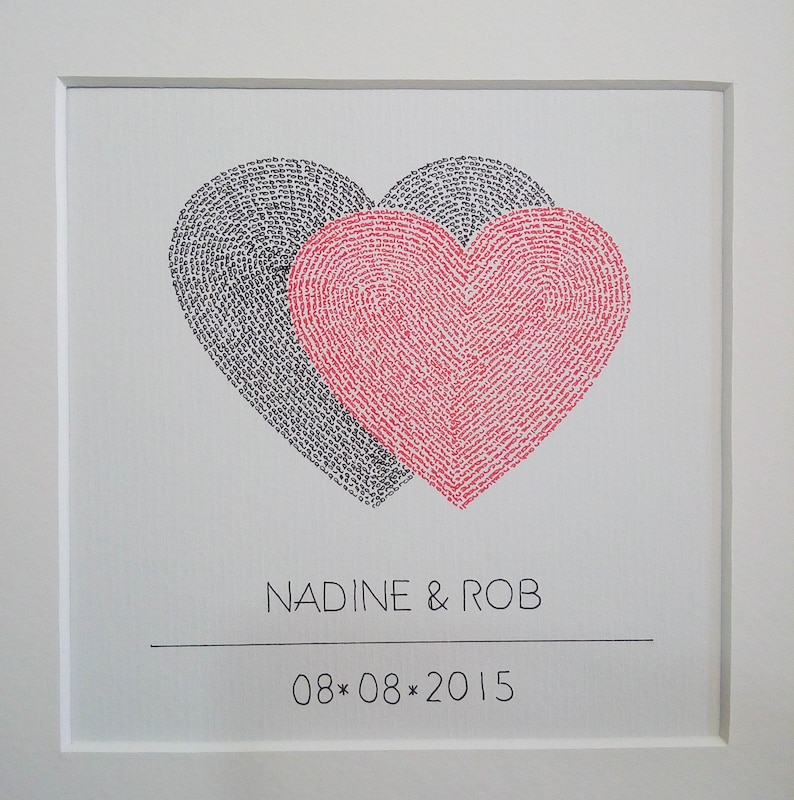 Wedding Hearts  Custom-made  Framed  Personalized Gift  25 image 0
