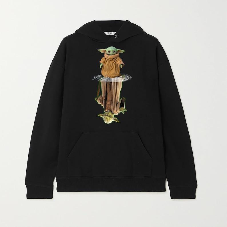 Tshirt Design Made in  CAD /& USA Baby Yoda water mirror reflection Master Yoda shirt