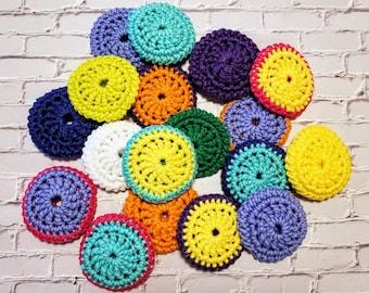 Grandma's Heavy Duty Pot Scrubber - Crochet Scrubber - Nylon Scrubby - Scrubber Sponge - Dish Scrubbie - Handmade - Grab Bag of 3