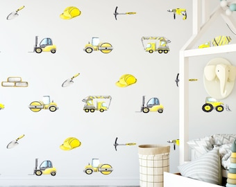 Construction Trucks - Removable Wall Decal
