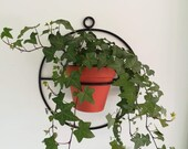 Plant hanger, black plant holder, house plant, handmade, metal planter, indoor, outdoor plant holder wall hanging, herb planter.