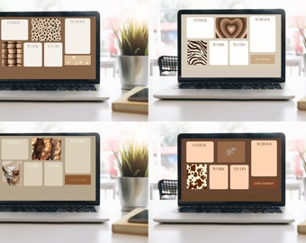 Brown Aesthetic Vintage Wallpaper With Photos Etsy