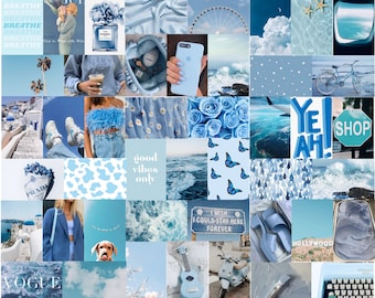 Baby Blue Aesthetic Wall Collage Kit (68 IMAGES DIGITAL DOWNLOAD)