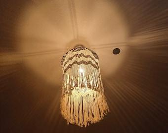 Lampshade Ceiling Lamp Macramé Retro Boho Chandelier Hanging Lamp Ceiling Lamp Lighting Lamp Pendant Lamp Bohemian