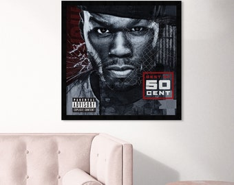 songwriter actor gloss poster 17x24 50 cent illustration of the American rapper television producer