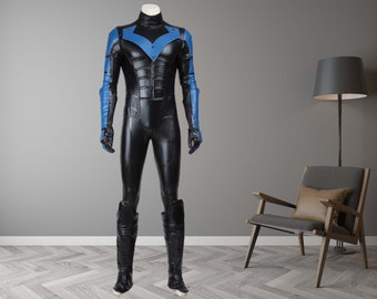 Nightwing Costume Cosplay Suit Batman Young Justice Halloween Outfit