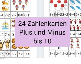 PDF Zahlenkarten bis 10