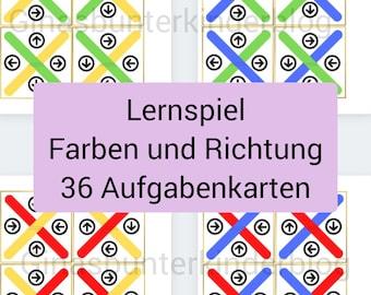 PDF: Lernspiel Farben und Richtung