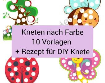PDF: Kneten nach Farben 10 Vorlagen