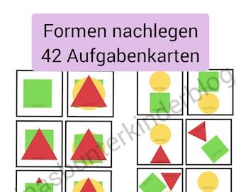 PDF: Formen legen 42 Aufgabenkarten