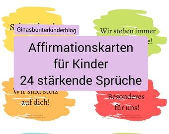 PDF: Affirmationskarten für Kinder zur Stärkung der Bindung und des Selbstvertrauens
