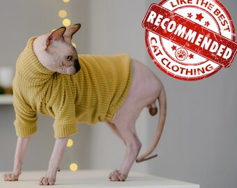 Devon Rex 15 Same Day Shipping Sphynx clothing LongJohn SlipOnSlipOff\u2122  Fleece Sweater for Sphynx Peterbalds and all cats.