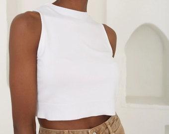 White mesh topflute long sleeveContemporary Lightweight layer