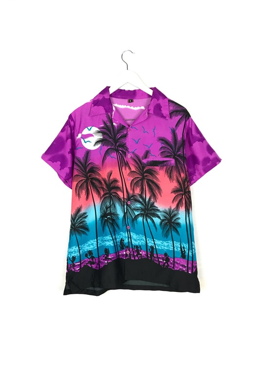 Vintage Hawaiian Palms Shirt