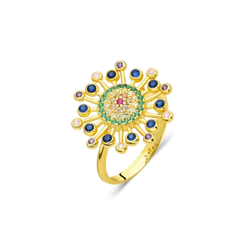 CZ Diamond Flower Ring