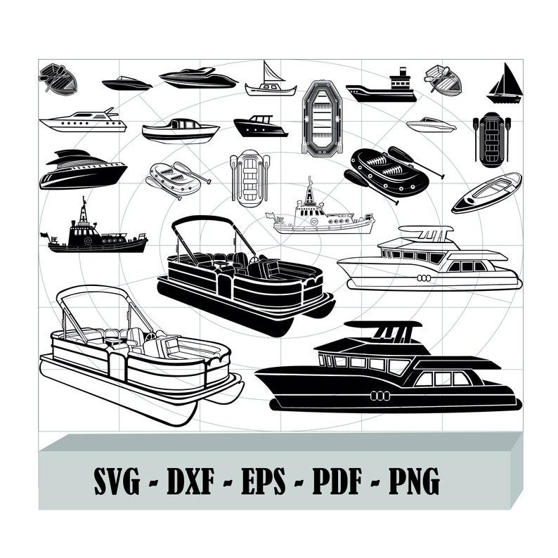 Download Clip Art Png Boat Cut Files For Silhouette Files For Cricut Fishing Boat Svg Boat Clipart Boat Svg Bundle Dxf Boat Vector Design Boat Svg Art Collectibles
