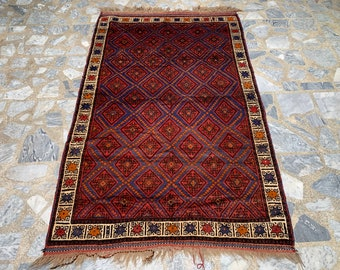 Medium Traditional Afghan Handmade Baluch Rug Buy 2 Get 1 Free 3/'5x6/'6 ft Afghan Tribal Medium Nomadic Rug Vintage Taimani Baluch Rug