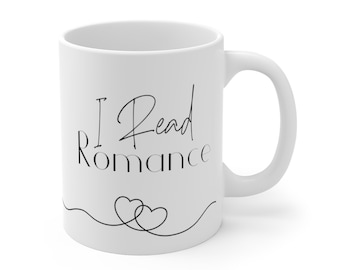 "Personalized ""I Read Romance"" Mug"
