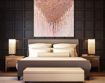 Rose Gold Painting Etsy