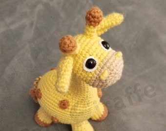 GIRAFFE LEI / Handmade figure/ Crochet toy /  Amigurumi decor
