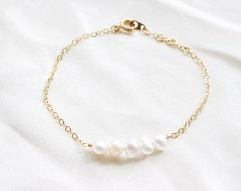 Pearl Dainty Beaded Bracelet | Anklet| Bestfriend | Perfect Gift | Beaded Bracelet | Adjustable | Custom Jewellery | Christmas Gift