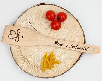 Personalized pan turner with your engraving   Name / Saying / Logo   Wooden pan turner   Birthday   Gift   Laser engraving   Cook