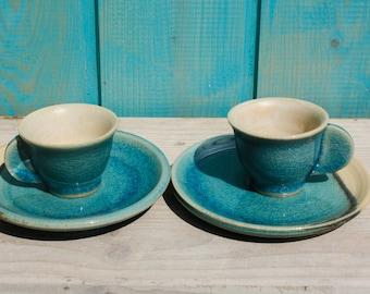 2 espresso cups, set of espresso cups, potted espresso cups
