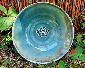 Bowl with butterfly motif