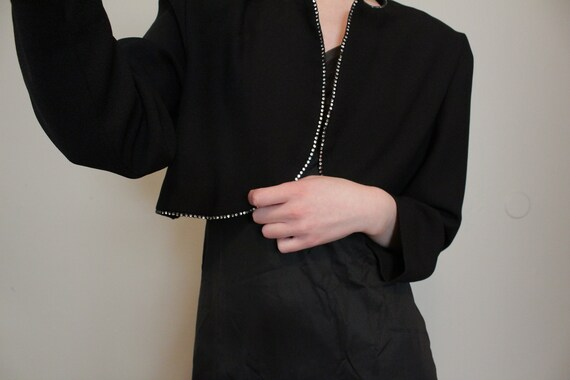 Leslie Fay Cropped Jacket