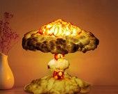 Mushroom Lamp - Nuclear Explosion Cloud Effect - Bedside/Desk/Ornamental Adjustable Lamp