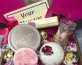 Luxury Personalised Pamper Gift Box Hand made scented Gift for Her Birthday Anniversary Friend