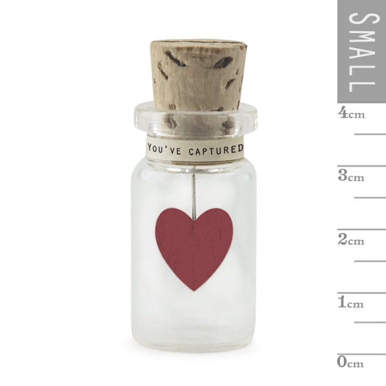 Decoration GIFT Glass bottle /'You/'ve captured my heart/' by East of India VALENTINES Keepsake