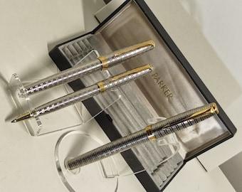 Parure de stylo à plume , stylo à bille et roller type écosse
