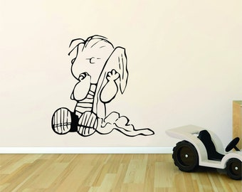 Snoopy Wall Decal Etsy