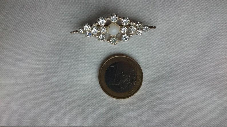 pearl Gablonzer brooch vintage jewelry glass stones 1940/'s rare piece,